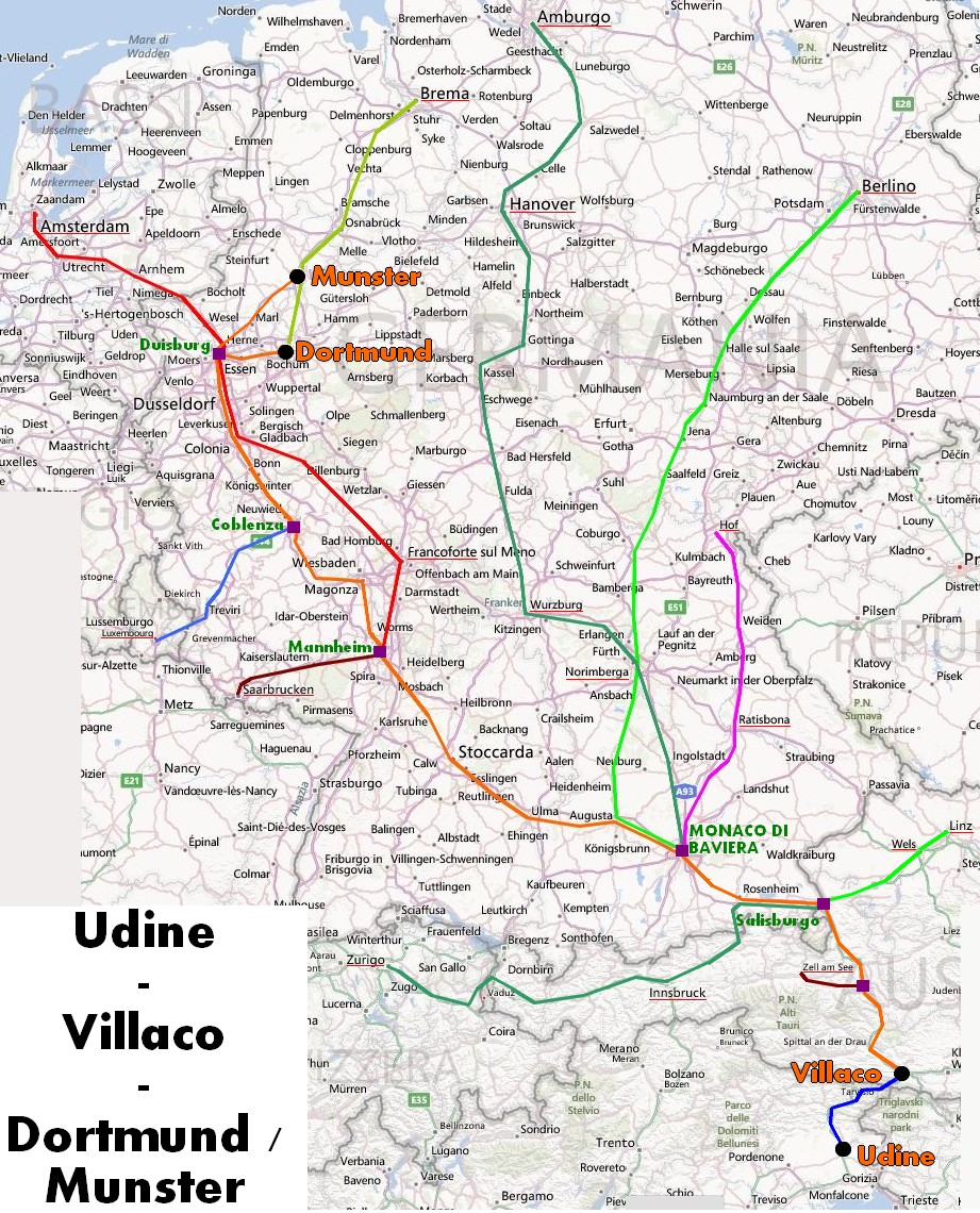 Dortmund Germania Cartina.Un Treno Regionale Collega Udine All Europa